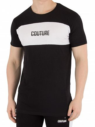 Fresh Couture Black Blocked T-Shirt