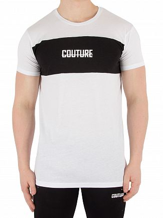 Fresh Couture White Blocked T-Shirt