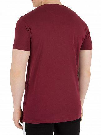 Fresh Couture Burgundy Logo T-Shirt