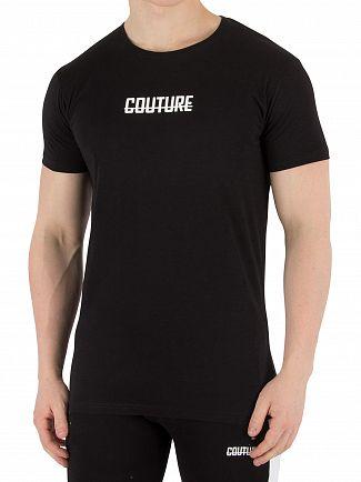 Fresh Couture Black Logo T-Shirt