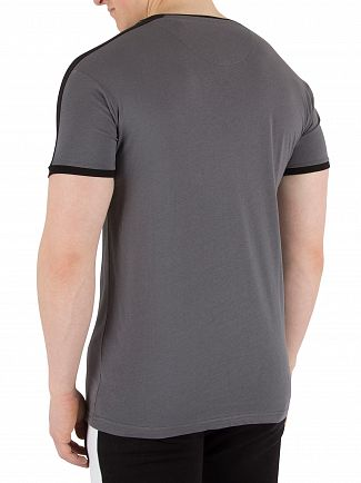 Fresh Couture Steel Grey Panel T-Shirt