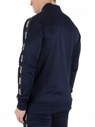Fresh Couture Navy Tapered Bomber Jacket