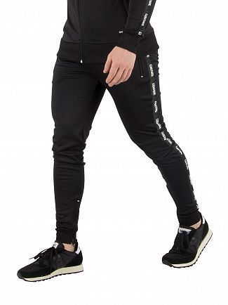 Fresh Couture Black Tapered Joggers