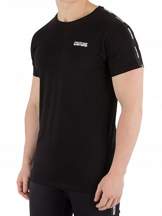 Fresh Couture Black Tapered T-Shirt