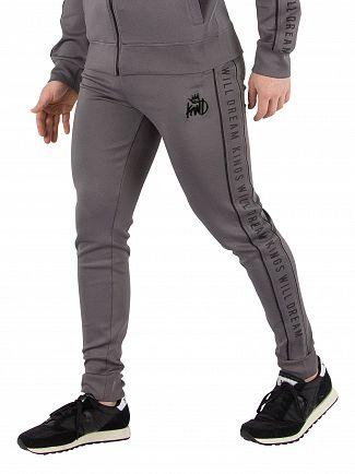 Kings Will Dream Grey Belmar Rubber Tape Joggers