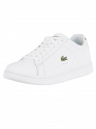 Lacoste White Carnaby Evo BL 1 SPM Leather Trainers