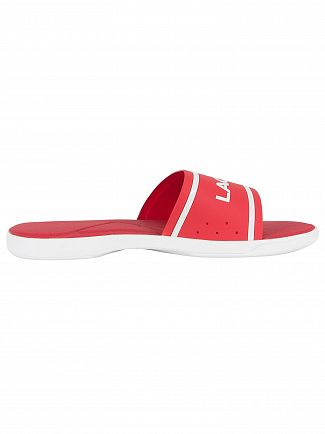 Lacoste Red/White L.30 218 1 CAM Sliders