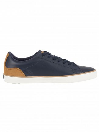 Lacoste Navy/Light Brown Lerond 118 1 CAM Leather Trainers