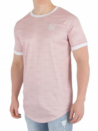 Sik Silk Pink Shadow Curved Hem T-Shirt