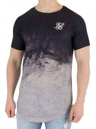 Sik Silk Black/Grey Marl Smoke T-Shirt