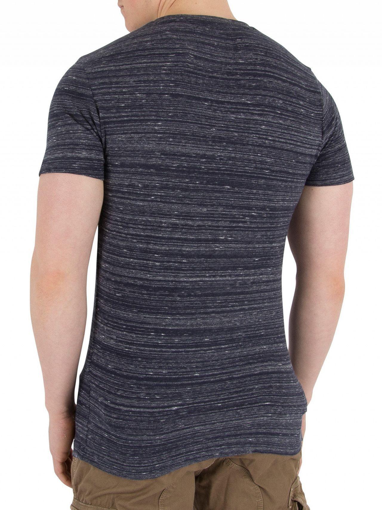 369387e0 Superdry Navy Space Dye Orange Label Vintage EMB T-Shirt | Standout