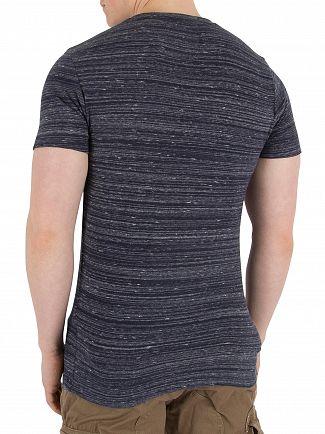 Superdry Navy Space Dye Orange Label Vintage EMB T-Shirt