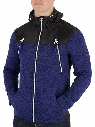 Superdry Cobalt/Black Storm Mountain Double Zip Jacket