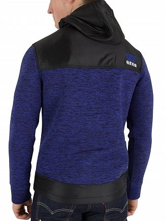 Superdry Cobalt/Black Storm Mountain Double Zip Jacket