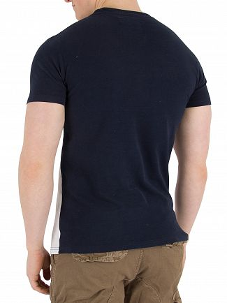 Superdry Optic/Silver Birds Eye Grey Vintage Logo Panel T-Shirt