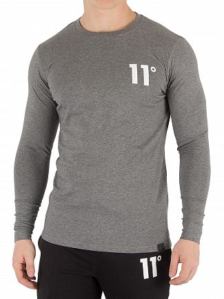 11 Degrees Charcoal Longsleeved T-Shirt