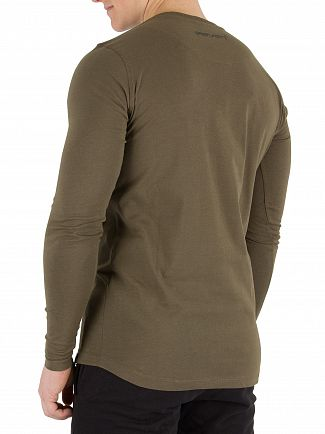 11 Degrees Khaki Longsleeved T-Shirt
