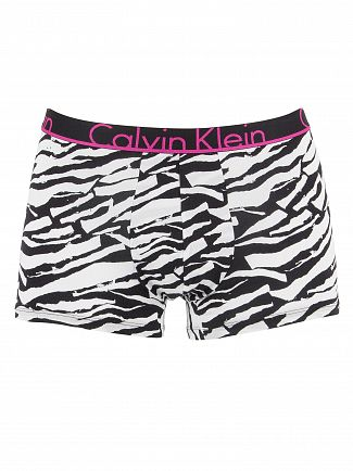 Calvin Klein Torn Edges Black Printed Trunks