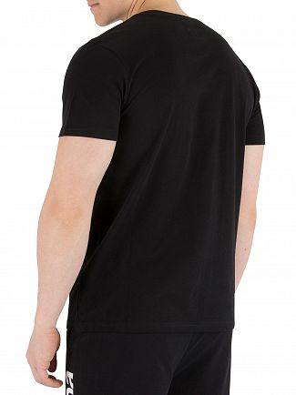 Kappa Black/Red Authentic Estessi Slim T-Shirt