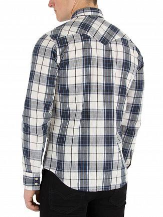 Levi's Wildcat Dress Blue Barstow Western Shirt