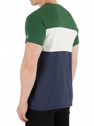Levi's Green/White/Navy Colorblock T-Shirt
