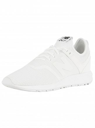 New Balance White 247 Decon Trainers
