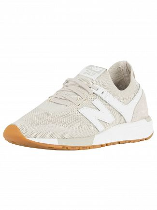 New Balance Moonbeam/White 247 Engineered Trainers
