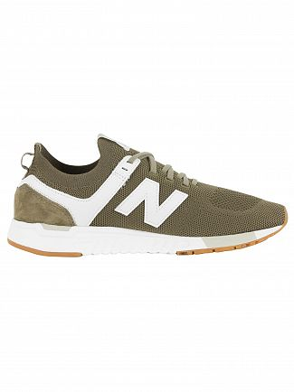 New Balance Covert/White 247 Engineered Trainers