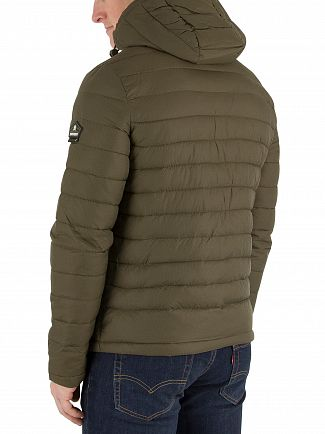 Superdry Dark Khaki New Fuji Double Zip Jacket