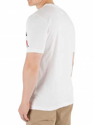 Tommy Hilfiger Bright White Global Stripe Fashion T-Shirt