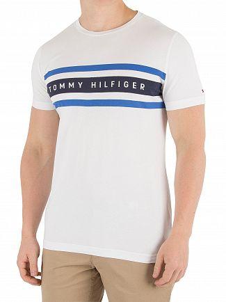 Tommy Hilfiger Bright White Logo Band Graphic T-Shirt