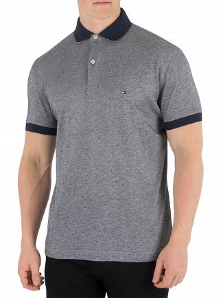 Tommy Hilfiger Sky Captain Printed Undercollar Polo Shirt