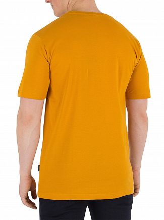 Nicce London Golden Yellow Chest Logo T-Shirt
