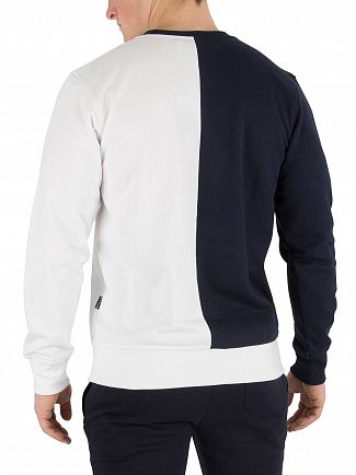 Nicce London White/Navy/Golden Yellow Domain Sweatshirt