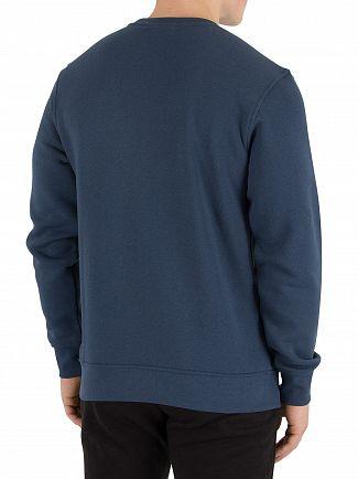 Nicce London Majorca Blue Split Logo Sweatshirt