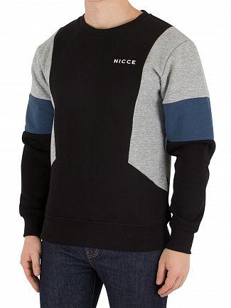 Nicce London Black/Light Grey/Blue Union Sweatshirt