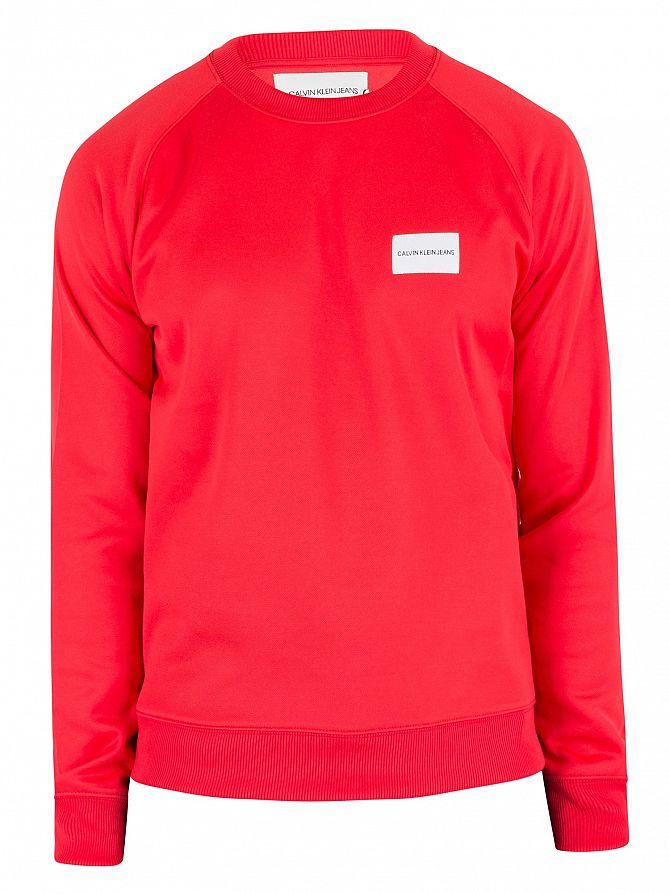 Shirt Sur Poitrine À Rouge Calvin Jeans L'insigne De Klein Détails Sweat Homme 4YqABxBw7