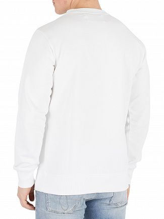 Calvin Klein Jeans Bright White Institutional Logo Sweatshirt