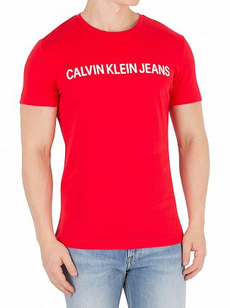 Calvin Klein Jeans Tomato Institutional Slim T-Shirt