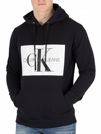 Calvin Klein Jeans Black Monogram Box Pullover Hoodie