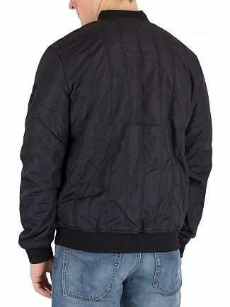 Calvin Klein Jeans Black Quilted Bomber Jacket