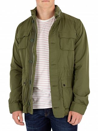 Scotch & Soda Green Military Jacket