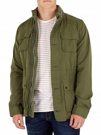 Scotch & Soda Green Military Jacket