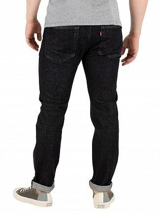 Levi's Black Warp 501 Skinny Jeans