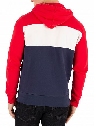 Levi's Red/White/Navy Colorblock Pullover Hoodie