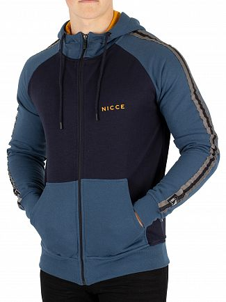 Nicce London Blue/Navy/Golden Bronco Zip Hoodie