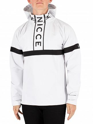 Nicce London White Tomo Kagoule Jacket
