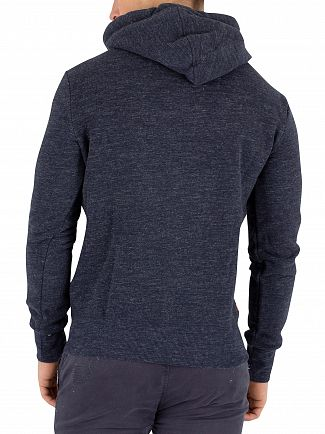 Superdry Ravine Blue Grit Orange Label Pullover Hoodie