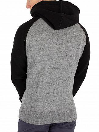 Superdry Urban Grey Grit Premium Goods Raglan Pullover Hoodie