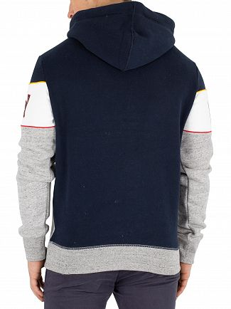 Superdry 3 Pointer Navy/Opt/Street Works Grit Retro Stripe Pullover Hoodie
